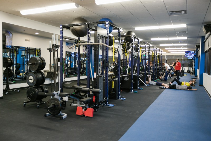 Training equipment in a training center